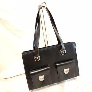 NWOT Jack Georges Computer Smooth Leather Bag